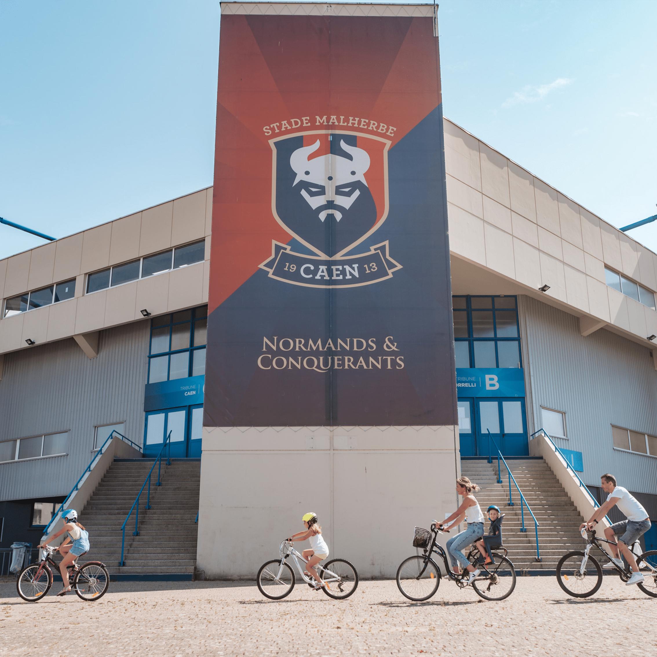 Stade Michel d'Ornano Caen Malherbes Caençabouge vélo