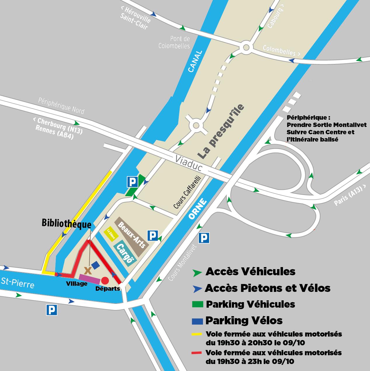 plan d'accès Caen ça bouge